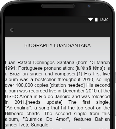 Screenshots of Luan Santana Music Lyrics for iPhone