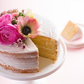 One-Bowl Vanilla Cake with Yogurt Buttercream Recipe