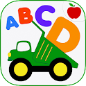 Kids ABCs Vehicles Flash Cards