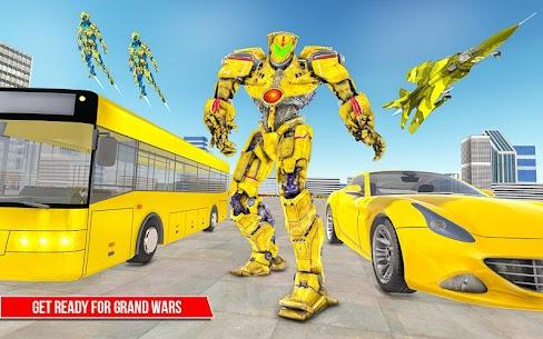 Muscle car robot game – Bus robot transform games 4