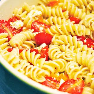 Lemony Pasta Salad with Grape Tomatoes and Feta.