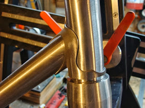 Photo: Curves and points on the Henry James down tube lug.