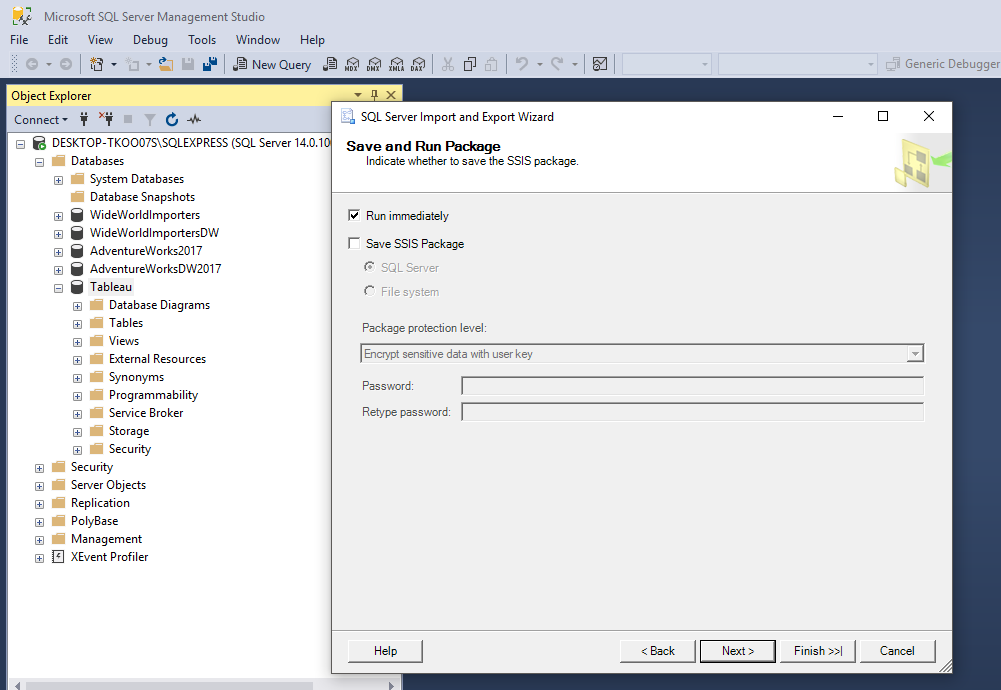 Load Sample Super Store Excel Data into Microsoft Sql Server to Analyze with Tableau 34