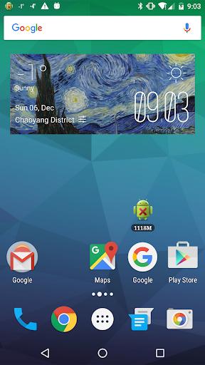 Starry Night Weather Widget