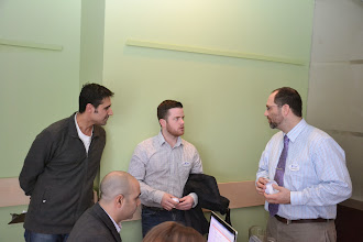 Photo: Student, Georges Maamari, Richard Cameron, Steve Moons