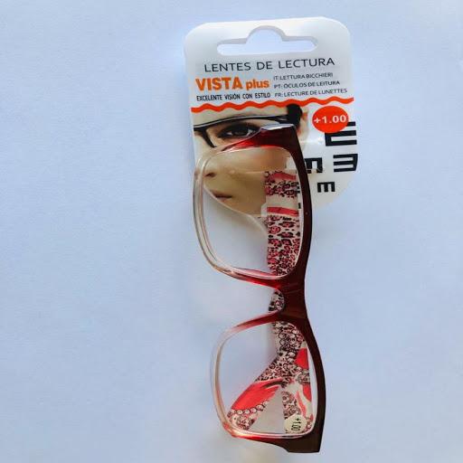lentes de lectura rojo +1.00
