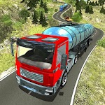 Oil Tanker Transporting Truck Icon