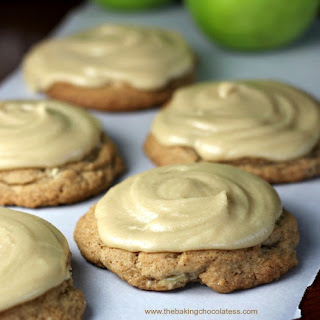 Ultimate Soft Caramel Apple Drop Cookies.
