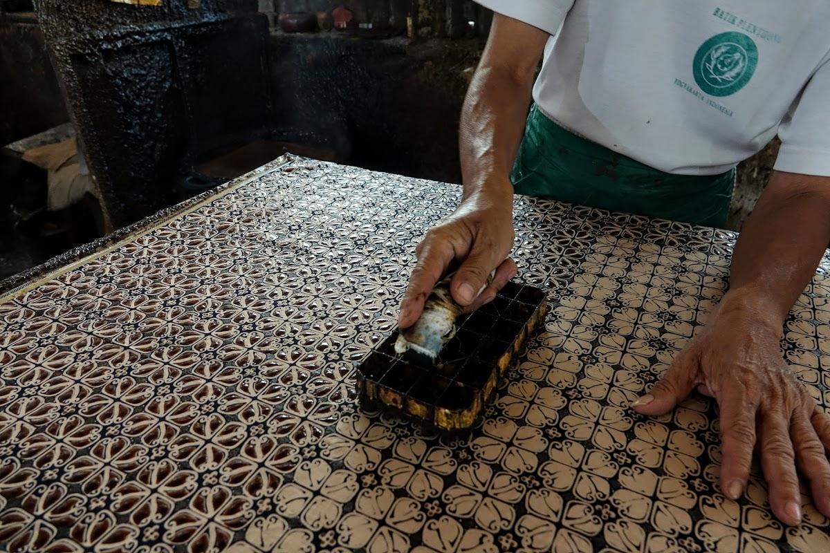 Indonesia. Crafts . Batik Stamping Close-Up