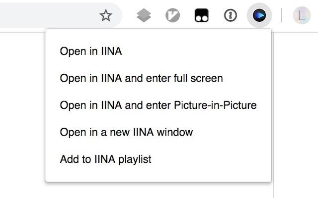 Open In IINA