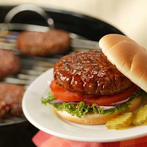 Pork Burgers on Sandwich Buns