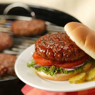 Pork Burgers on Sandwich Buns.