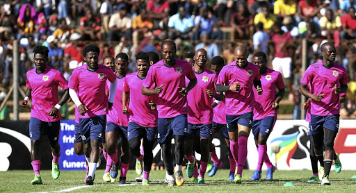 Black Leopards players at training in preparation for their clash against  Polokwane City tomorrow.   a231d3a85