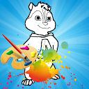 Chipmunks Coloring Book games for adult APK