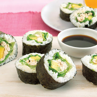 Chicken and Avocado Sushi.