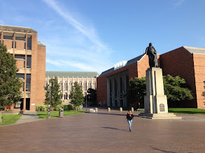 Photo: University of Washington view towards Red Square