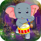 Best Escape Games 65 Dancing Elephant Rescue Game icon