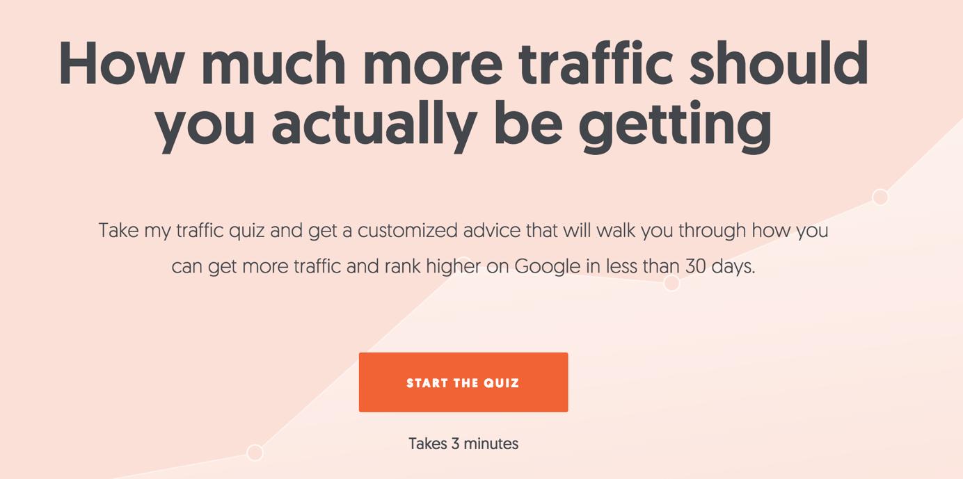 landing-page-essentials-a-quiz setzt einen effektiven Pain Point der Website Besucher