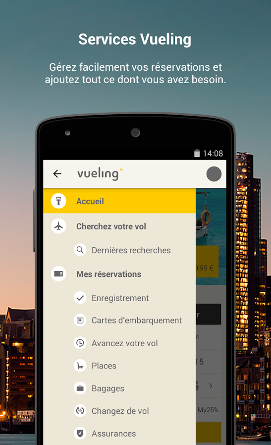 vueling vols pas chers applications android sur google play. Black Bedroom Furniture Sets. Home Design Ideas