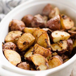 Airfryer Crispy Roasted Onion Potatoes Recipe