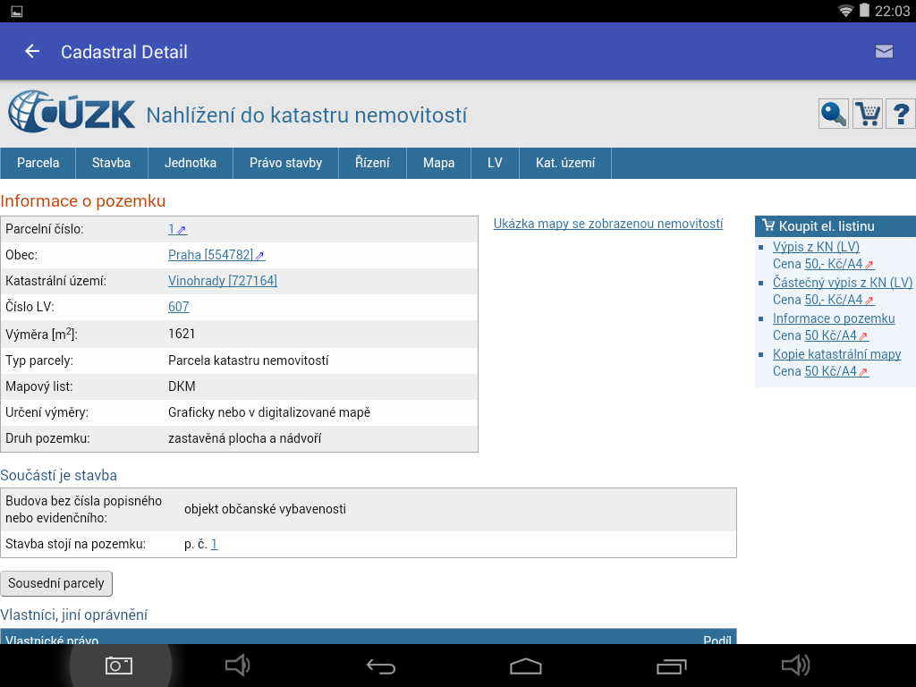 iKatastr- screenshot