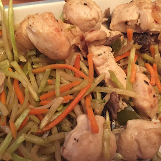 Chicken Broccoli Slaw Stir Fry