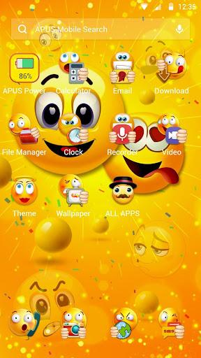 Funny Emoji APUS Launcher theme 1 2