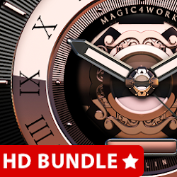 HD Analog Clock Bundle Live Wallpaper 3