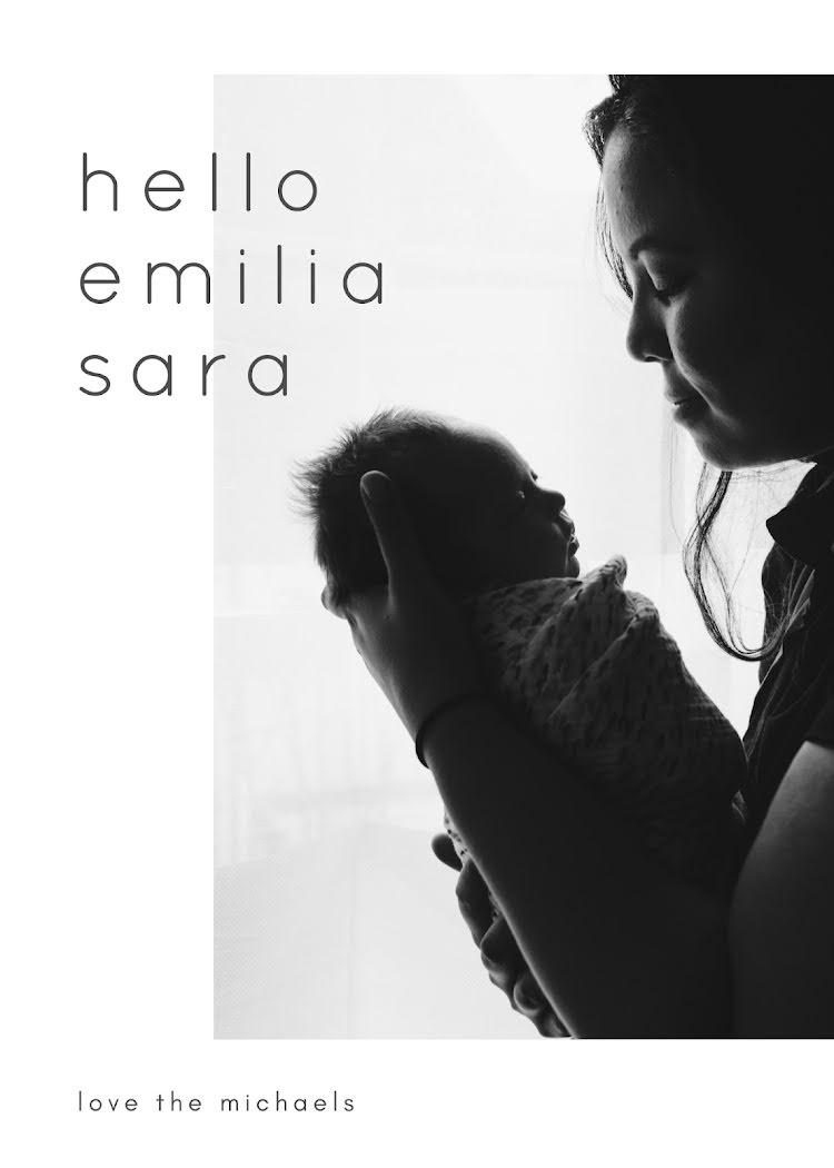 Emilia's Birth Announcement - New Baby Announcement Template