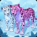 Snow Leopard Family Sim Online icon