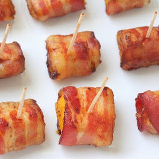 Bacon Wrapped Butternut Squash Bites (Low Carb and Paleo).