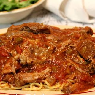 Creole Daube and Spaghetti.