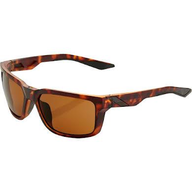100% Daze Sunglasses: Soft Tact Dark Havana Frame with Bronze Lens