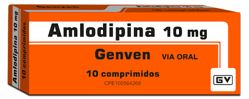 Amlodipina 10mg 10comprimidos Genven