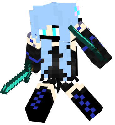 I decided that the one I made before wasn't quite right... SO I CHANGED IT! I thought that it could use more blue, and that the fact that the outfit was a dress didn't really work, so I changed it to a pair of shorts. I also changed that boots and sleeves to make it seem more... complete. Hope you like it! ^-^ -SaffhireFox