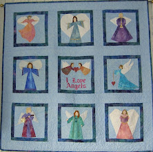 Photo: 12 Paper Pieced Angel blocks from pattern book 24 Angel Quilt Blocks by Linda Cause