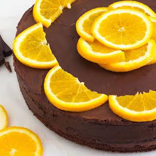 Dark Chocolate Orange Cake with Chia Seeds.