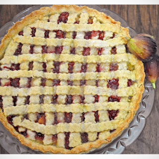 Raspberry Fig Tart With An Almond Cookie Crust.