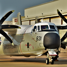 C-2 Greyhound  by Benito Flores Jr - Transportation Airplanes ( cargo plane, texas, prop, navy )
