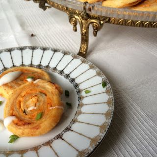 My Ninja Naan Baby Shower – Buffalo Chicken Pinwheels