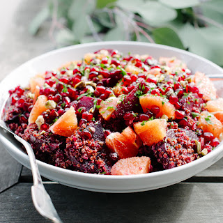 Quinoa Salad with Roasted Red Beets, Oranges and Pomegranate Recipe