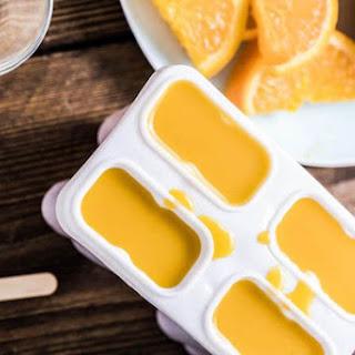 Vanilla-Infused Fresh Orange Juice Popsicles.