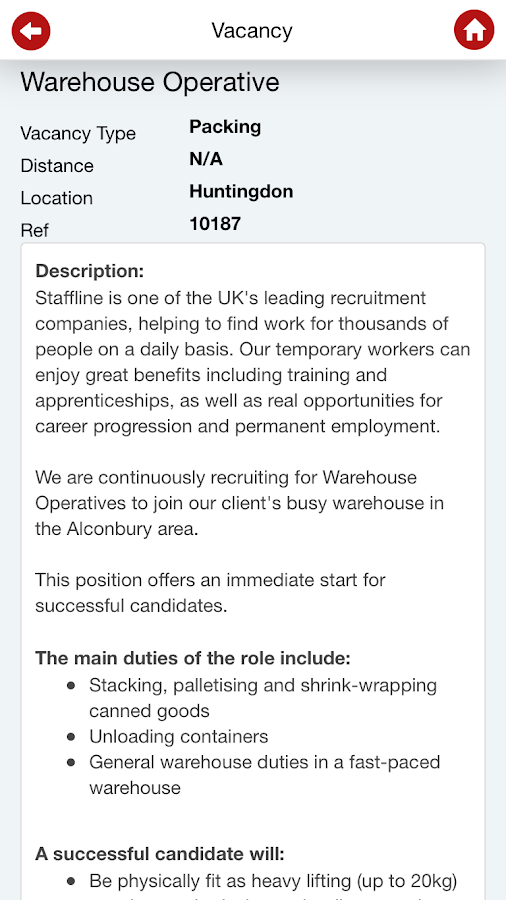 StafflineJobs- screenshot