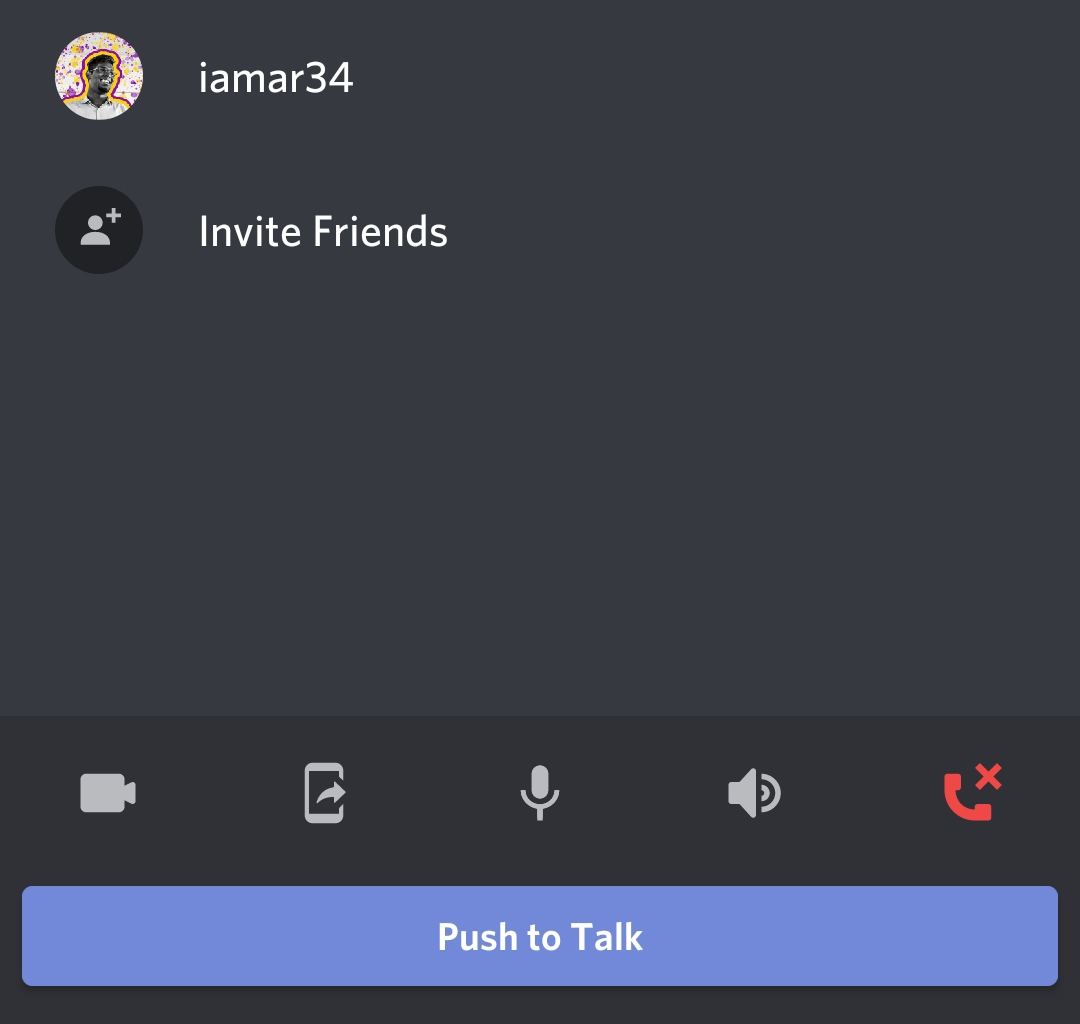 Once you have the Push to Talk Discord feature enabled, you will see the Push to Talk button at the bottom of the channel.