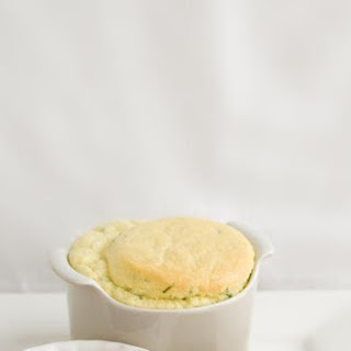Double Cheese Souffle With Spiced Pear