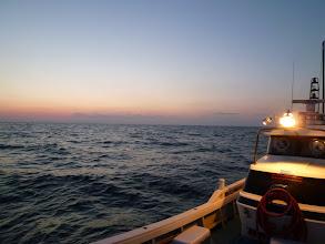 Photo: 日の出も早くなってきました。さあー、やりましょっ!