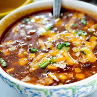 Weigh Watchers Slow Cooker Taco Soup.