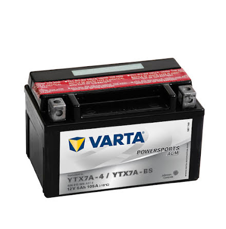 MC batteri Varta 12V/6Ah YTX7A-BS
