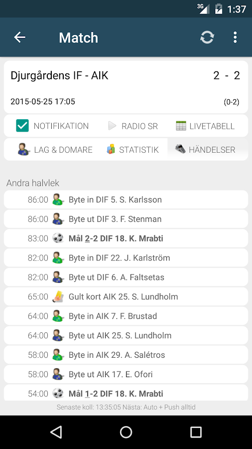 Sportstats - screenshot