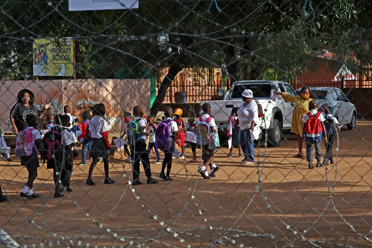 It's all systems go at Tolamo Primary School in Letlhakaneng in the North West, where some kids did not want to be left at school, and tried to 'escape' back to their parents.